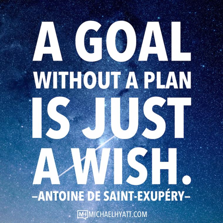 A goal without a plan is just a wish -Antoine de Saint-Exupéry