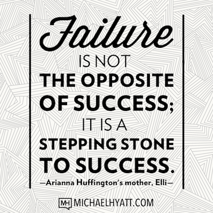 Failure is not the opposite of success; it is a stepping stone to success. -Elli Stassinopoulos