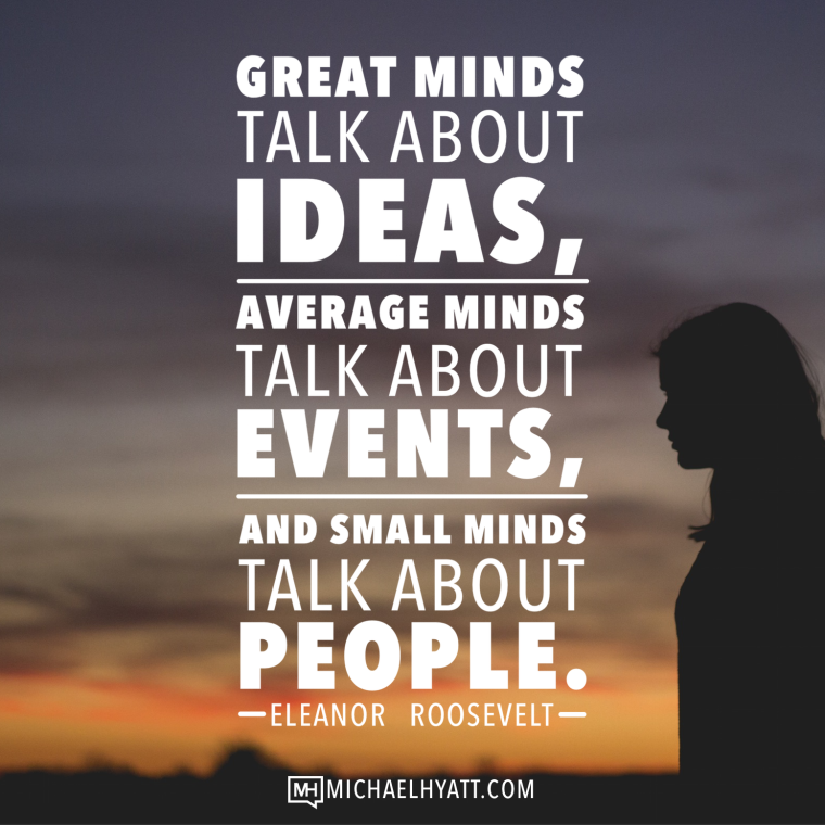 Image result for small minds talk about people
