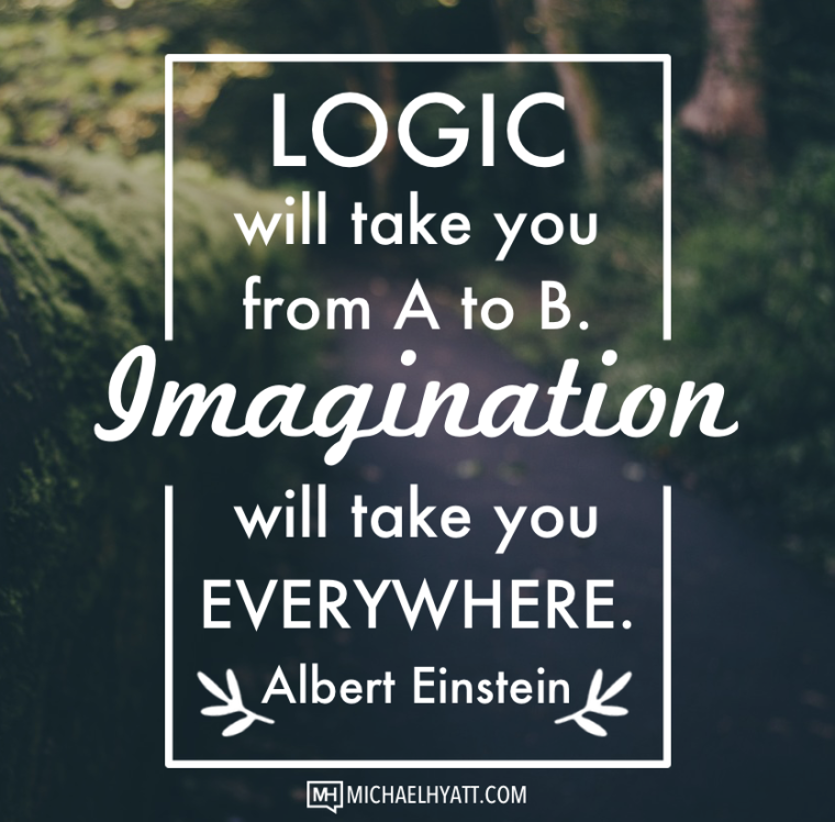 Logic will take you from A to B. Imagination will take you everywhere. -Albert Einstein