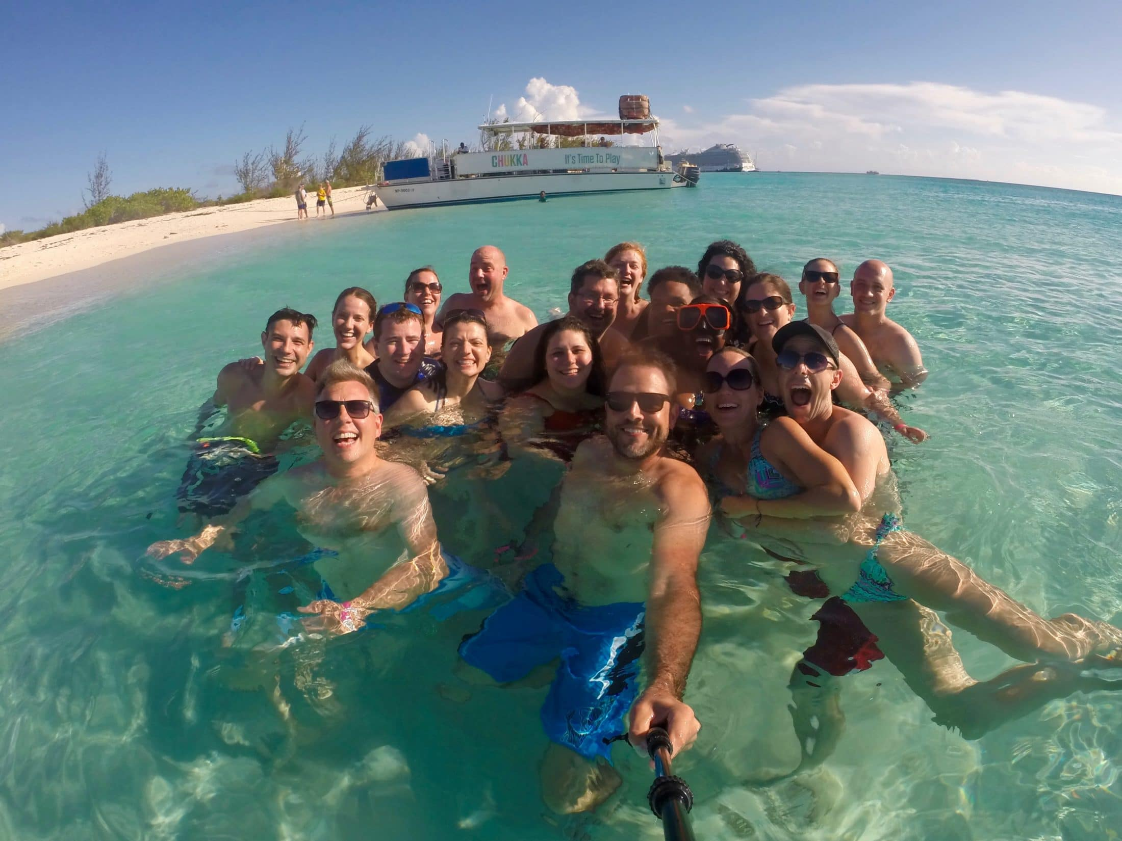 Most of my team, swimming off Grand Turk. Photo courtesy of Kyle Chowning.