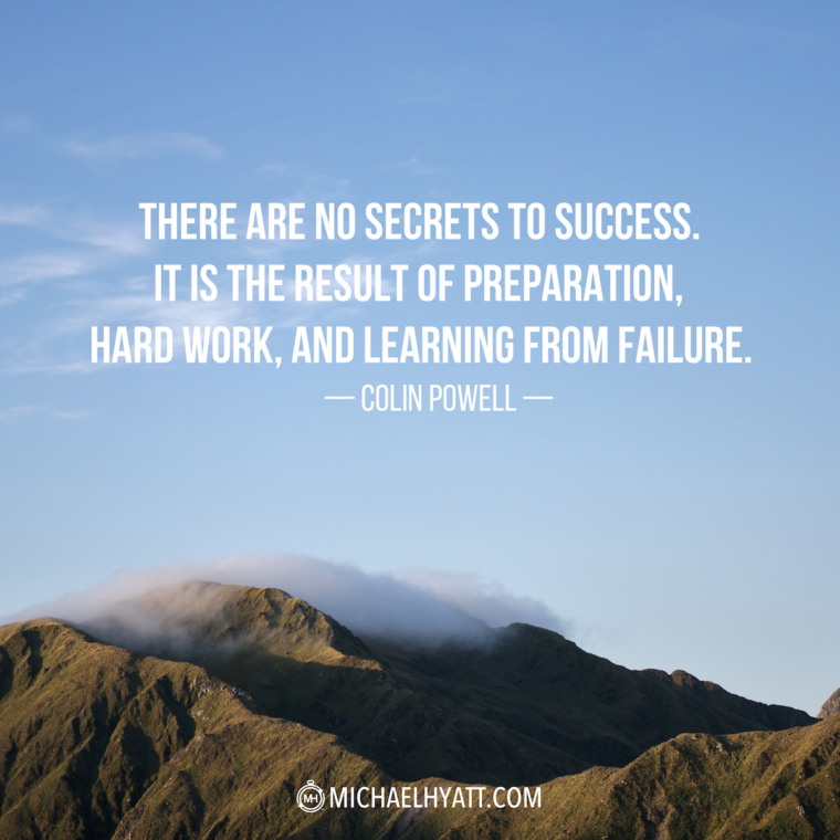 """""""There Are No Secrets To Success. It Is The Result Of"""